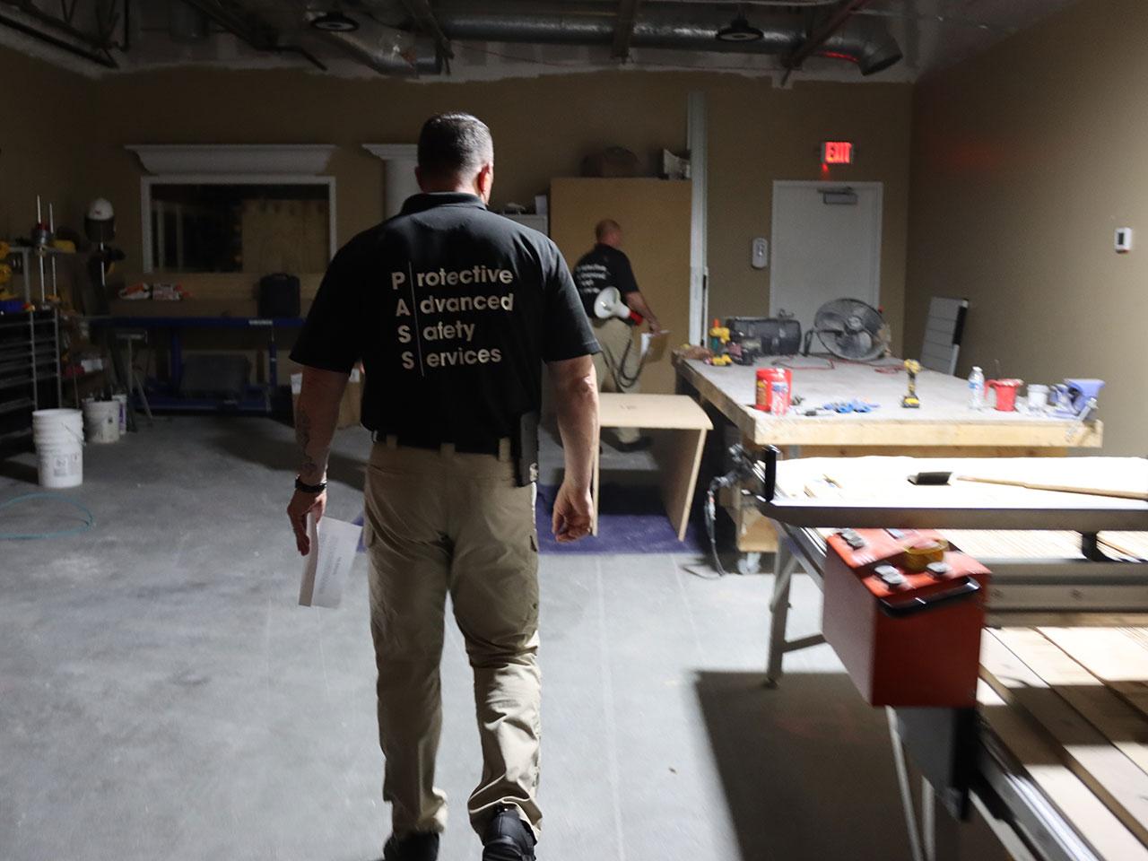 active shooter training, shooting walks building