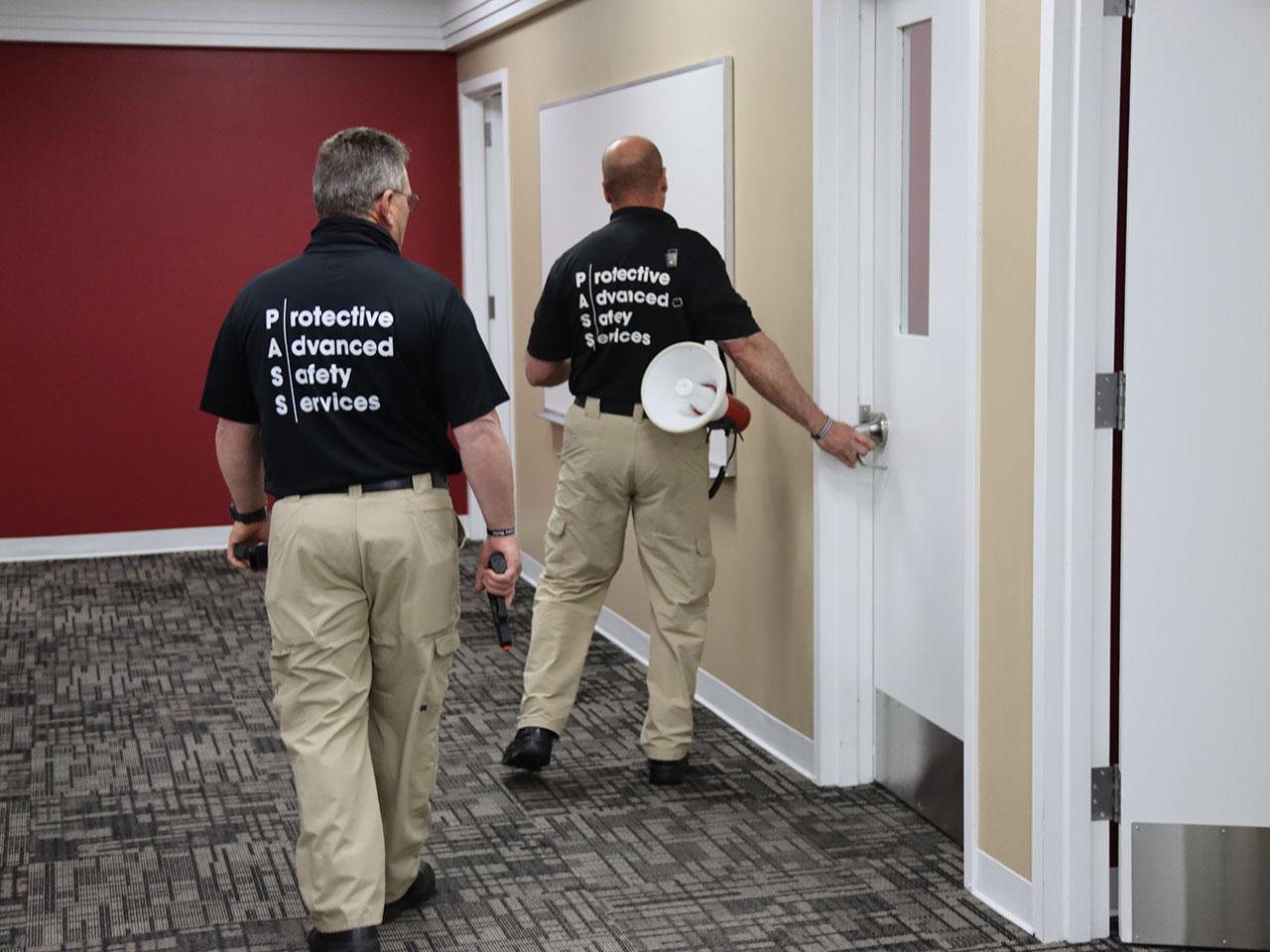 active shooter taining testing doors