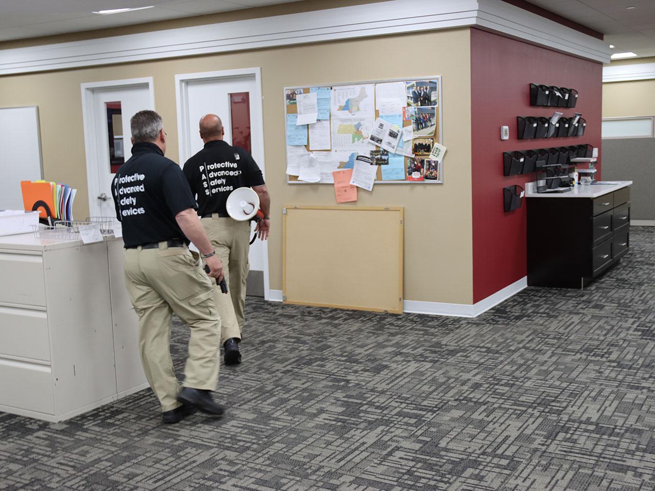 active shooter training running in halls