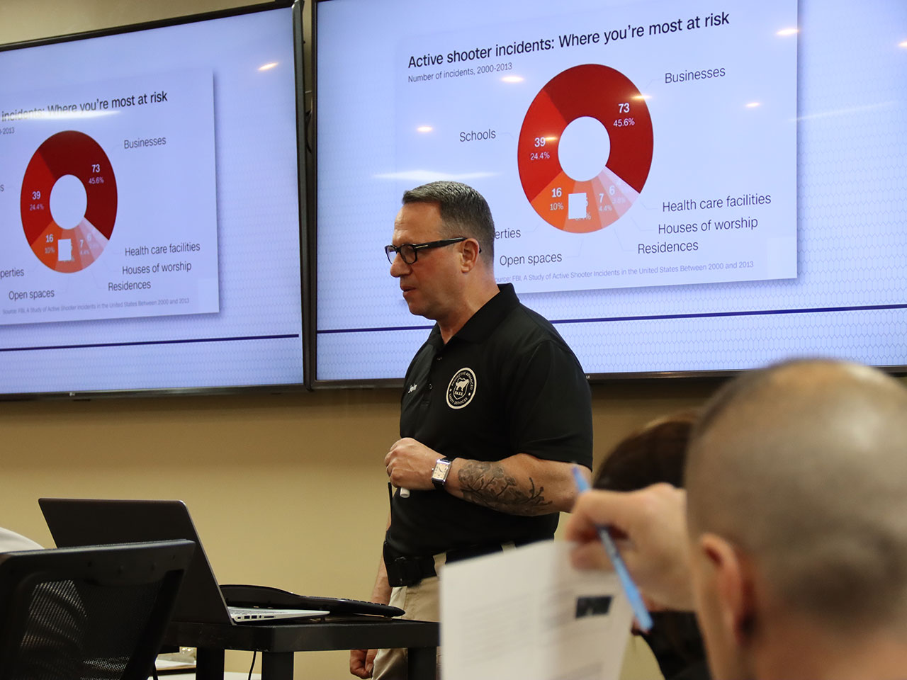 PASS talks as part of active shooter presentation
