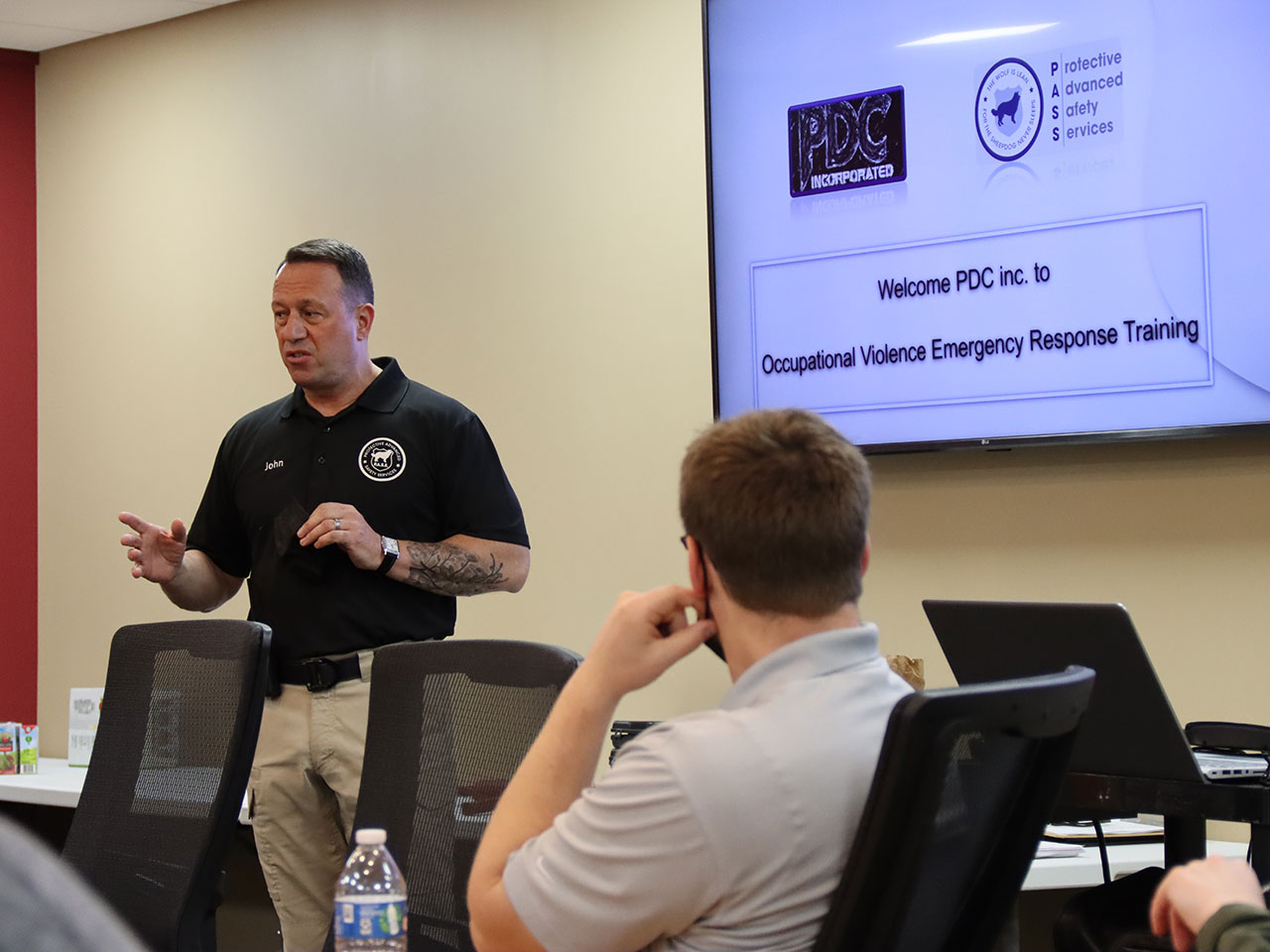 PASS active shooter presentation in Springfield business