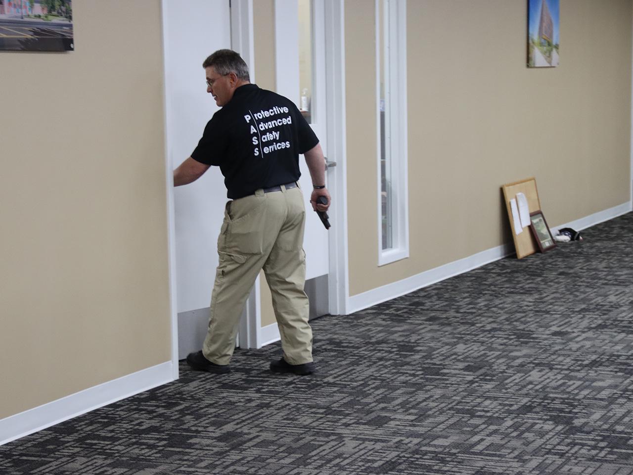 active shooter training opening door